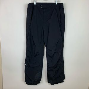 Mens Black 2x Obermeyer Ski Winter Snow Pants